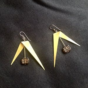 Vintage Big Boho Brass Earrings